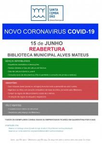 CARTAZ ReaberturaBiblioteca 15-06-2020