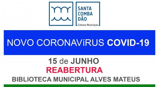 CARTAZ ReaberturaBiblioteca 15-06-20202