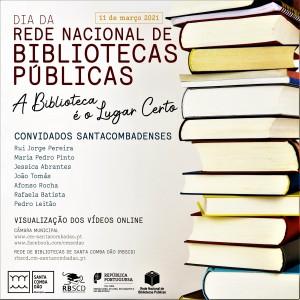 cartaz-11 de março 2021 DIA DA REDE NACIONAL DE BIBLIOTECAS PÚBLICAS-A Biblioteca é o Lugar Certo